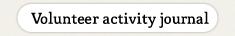 Volunteer Activities Journal