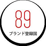 ブランド登録国:89