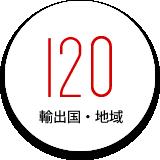 輸出国・地域:120